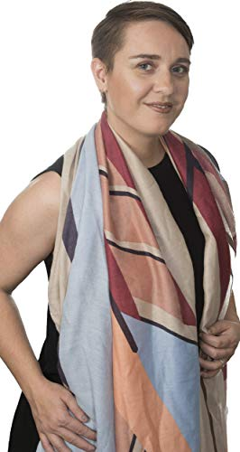 Moriel's Oasis Lightweight Colorful Spring/Summer Neck Scarf for Women in Abstract print