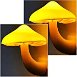 2Pack Mushroom Night Light Plug in Lamp by