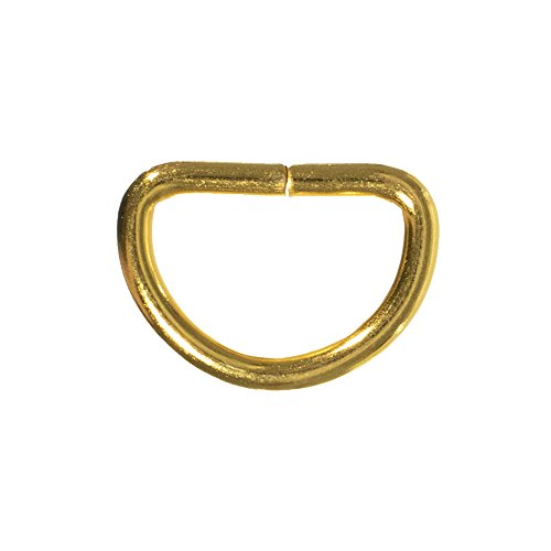 Gold Metal D-Rings - 3/4 Inch - 10 Pack (10k Gold Buckle Ring)
