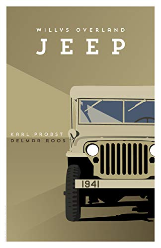 (IconoGraphika Willys-Overland Jeep by Karl Probst and Delmar Roos Pop Art Poster (Light Brown, Medium - 16.5 x 25.5 in / 419 x 648 mm))