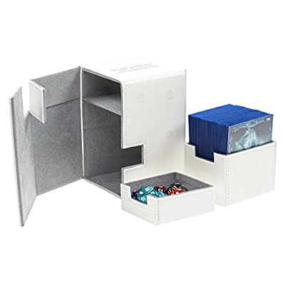 Ultimate Guard 100+ Flip n Tray XenoSkin Deck & Dice Case Protector White: Toys & Games