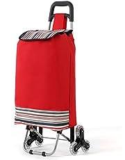 Terrain Ready Shopping Trolley Cart with Waterproof Nylon Bag 6 Wheel Rolling Swivel