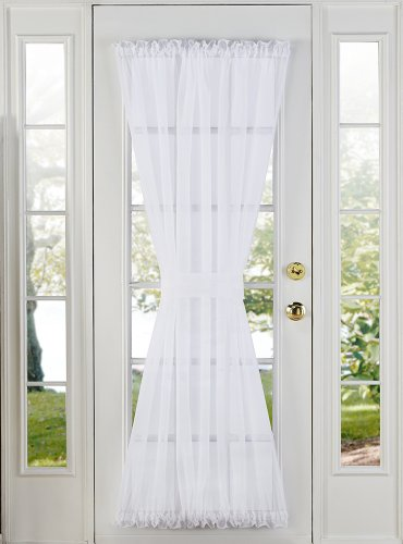 Stylemaster Home Products Elegance Voile Door Panel, 60 by 72-Inch, White