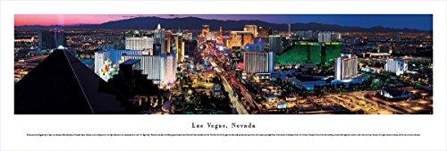 Las Vegas, Nevada - Blakeway Panoramas Unframed Skyline Posters (New Las Hotel Vegas York)
