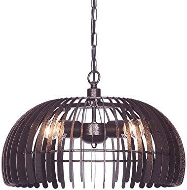 Wideskall 3-Bulbs Industrial Dome Pendant Lighting Fixture, 17-inch Metal Shade, Bronze Finish