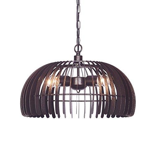 Wideskall 3-Bulbs Industrial Dome Pendant Lighting Fixture, 17-inch Metal Shade, Bronze Finish ()