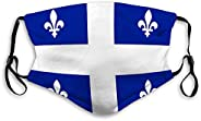 zexuandiy Breathable Reusable Outdoor Mouth Mask Flag Quebec Background Texture Close up Flag qu One Size