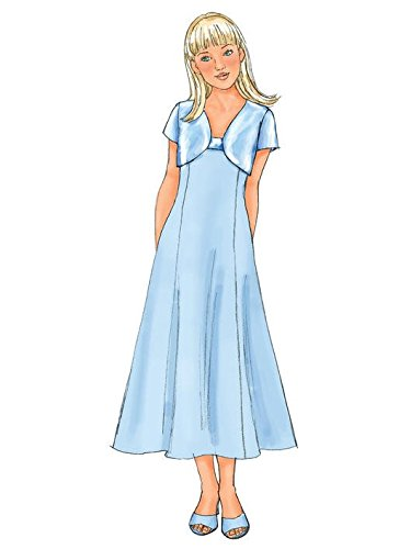 Pack of 1 Butterick Patterns B4385 Size 10 1//2-12 1//2-14 1//2-16 1//2 Girls Plus Jacket and Dress White