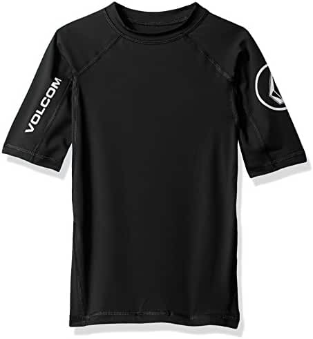 Volcom Boys' Solid Short Sleeve Rashguard