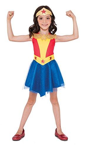 Imagine by Rubies Kids Wonder Woman Tank Dress Costume, One Size - Tank Dress Wonder Woman Costumes