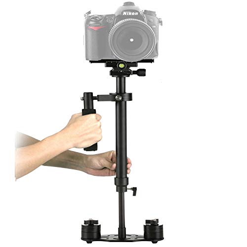SuteFoto S60 Stabilizer for Camera 24/60cm Steadycam with Quick Release Plate 1/4 and 3/8 Screw for Nikon, Canon, Sony, Panasonic and Other DSLR Camera -Up to 6.61Ib/3kg