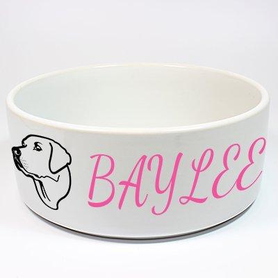 Custom Ceramic Dog Bowl (Labrador)