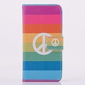 WQQ colores del modelo del arco iris caso de cuerpo completo con soporte para el iPhone 4 / 4s