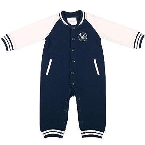 Oceankids Baby Boys Navy Blue Infant Romper Baseball Jumpsuit 6-9 Months