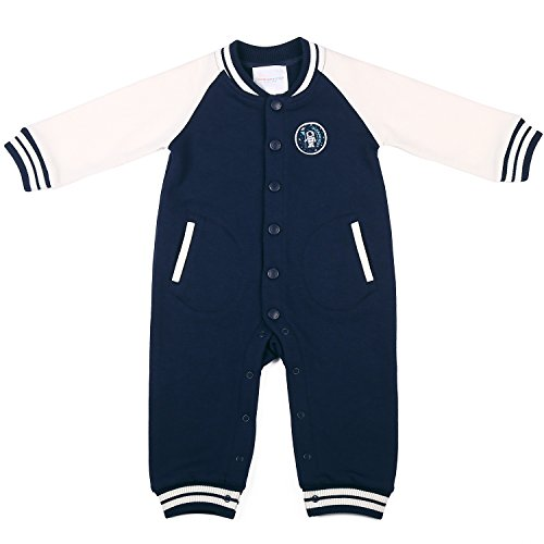 Oceankids Baby Boys Baby Girls Navy Blue Infant Jersey Rib Jumpsuit 9-12 Months (Dallas Cowboys Costume For Boys)