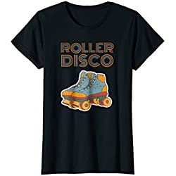 Womens Cool Vintage Roller Disco Retro 70s and 80s party T-shirt Medium Black