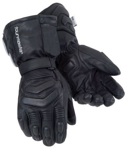 Tourmaster Synergy 2.0 Black Electrically Heated Leather Gloves - Small