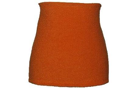 Nierenwärmer uni orange hell Bauchwärmer Fleece Frottee Nierengurt Leibwärmer Männer Frau Kinder Sport Baby Gr. Größe Gr. XS belldessa