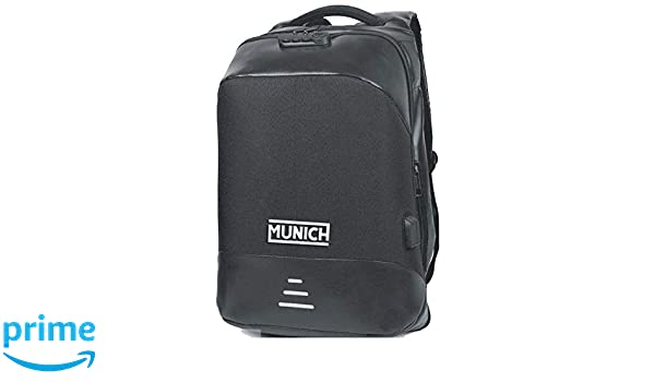 Munich Tech/Business Mochila Tipo Casual, 49 cm, 23 litros, Negro: Amazon.es: Equipaje