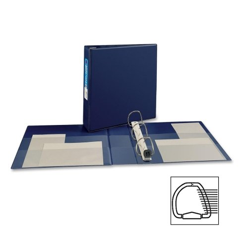 Wholesale CASE of 20 - Avery Heavy-Duty EZD Reference Binders-3-Ring EZD Binder, 2'' Capacity, 8-1/2''x11'', Navy Blue