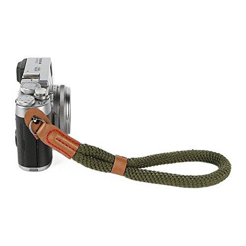 Leica Canon Eos - Camera Hand Wrist Strap, Soft Cotton Wrist Strap for Sony A6000 A6300 A6500 Fujifilm X100F X100T X100S X100 X-T2 X-T10 X-T20 X-E2 X-E3 and other Mirrorless Cameras (Green)