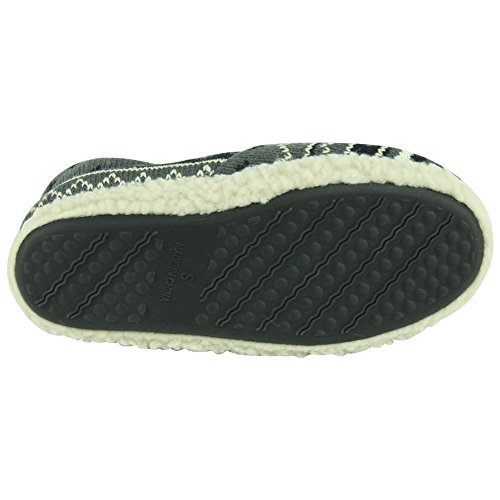 Forfoot Womens Soft Fleece Inverno Caldo Casa Indoor Stivali Moda Pantofole Grigio Scuro
