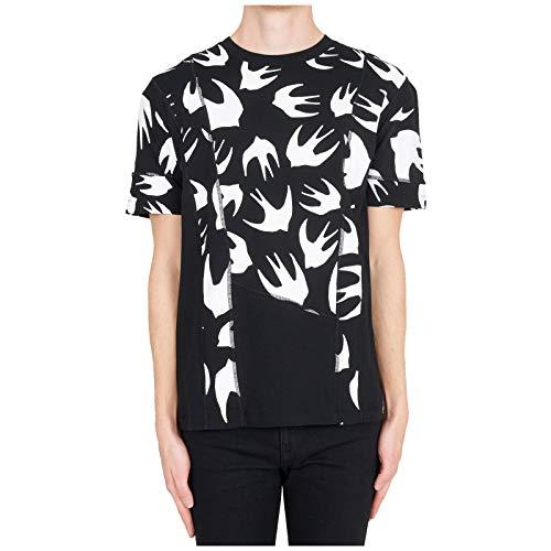 McQ Alexander McQueen Men t-Shirt Swallow Swarm Nero L