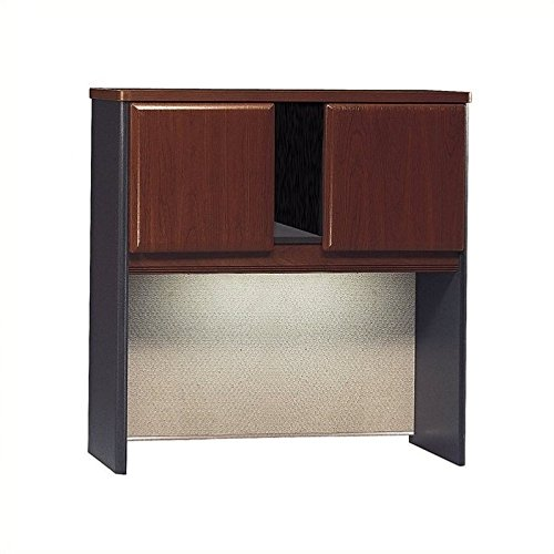 Hutch Modular Office Furniture - Bush Business Furniture Series A Collection 36W Hutch in Hansen Cherry