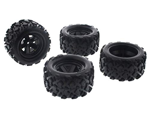 4wd Tires And Wheels - Traxxas LaTrax 1/18 Teton 4WD FRONT & REAR TIRES & 12mm HEX 5 SPOKE WHEELS by Traxxas