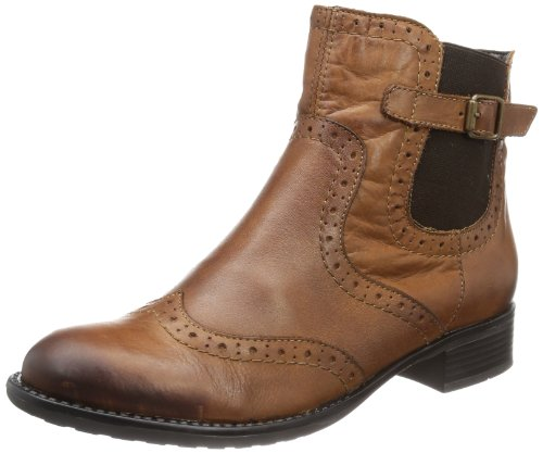 Remonte Women's Half Boots Muscat Brown Leder Uniform Dress Shoes 38 by Remonte