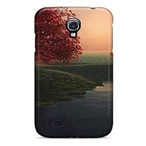 Awesome Cvp1441sCVY JBcases Defender Tpu Hard Case Cover For Galaxy S4- Hill Painting