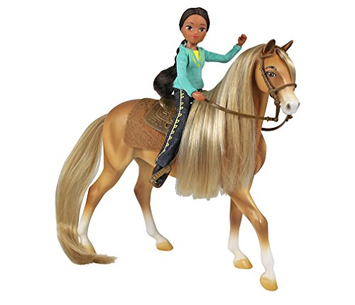 Breyer Spirit Riding Free - Chica Linda and Prudence Toy Gift Set (Dog Horses Harness)