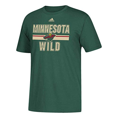 - adidas Minnesota Wild Adult Game Day Short Sleeve T-Shirt - Green, X-Large