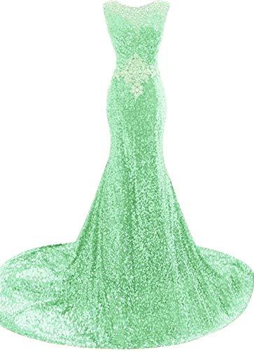 Size DreHouse b Evening Mint Mermaid Women's Sequins Plus Long Formal Gowns Dresses Prom vRvrq7w