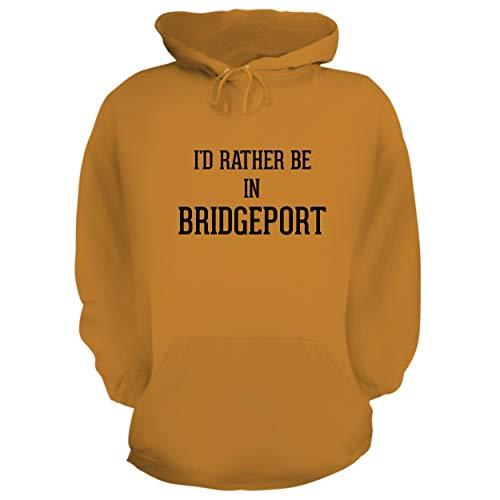 (I'd Rather Be in Bridgeport - Graphic Hoodie Sweatshirt, Gold,)