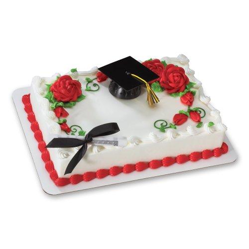 (Decopac Black Graduation Cap with Tassel DecoSet Cake Topper)