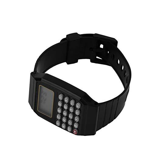 Revemx Los Estudiantes de la calculadora del Reloj Digital en Color sólido de Silicona calculadora Reloj de Pulsera