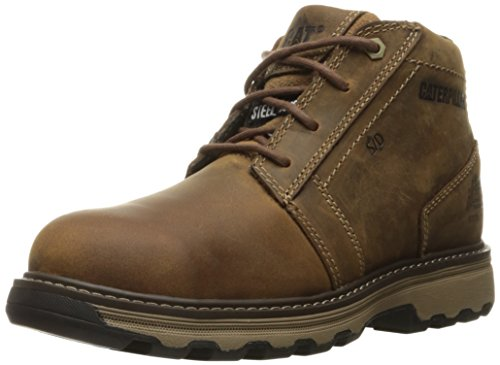 Caterpillar Mens Parker ESD Steel Toe Industrial and Construction Shoe Dark Beige