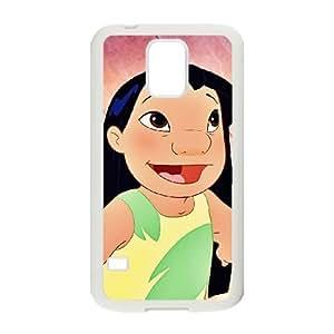 Samsung Galaxy S5 Cell Phone Case White Disney Lilo & Stitch Character Lilo Pelekai Vbomc