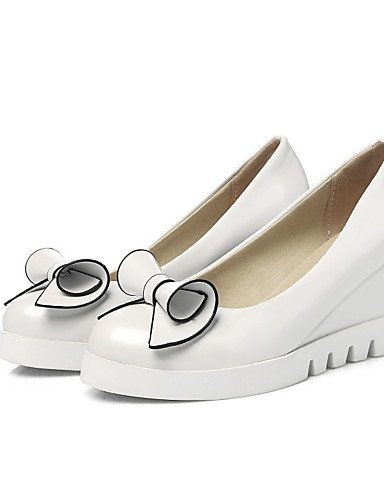 GGX/Damen Schuhe Kunstleder Keilabsatz an Materialien/Keile/Plattform/Basic Pumpe/Karriere/Kleid white-us10.5 / eu42 / uk8.5 / cn43