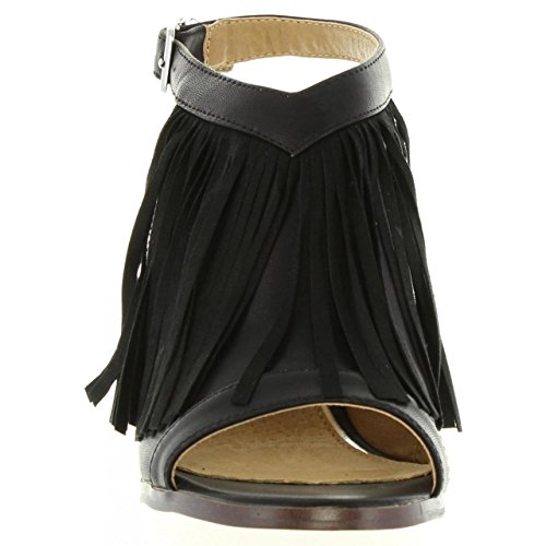 MARIA MARE Zapatos de Tacón de Mujer 66105 Brush Negro