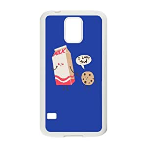 Vety Milk and Cookie Cases for Samsung Galaxy S5 Cute Girly & Cheap, Case for Samsung Galaxy S5 I9600 Protective Cute for Girls with White