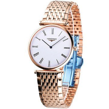 Longines La Grande Classique White Dial 18kt Rose Gold-plated Ladies Watch L47091918