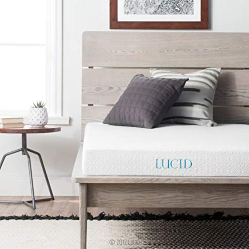 LUCID 5 Inch Gel Memory Foam Mattress - Dual-Layered - CertiPUR-US Certified - Firm Feel - Full Size
