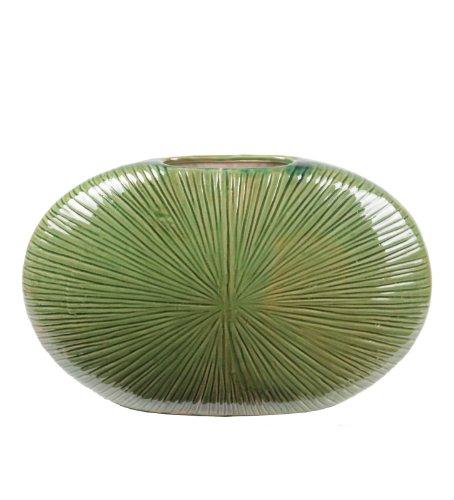 Privilege International 34403 Flat Ceramic Vase, Small
