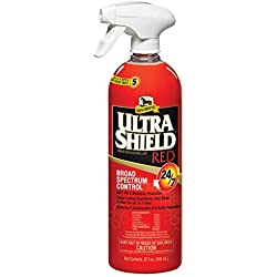 Absorbine 32 oz Ultra Shield RED 24/7 Protection Fly Spray Powerful Kills Repels Insect Spray