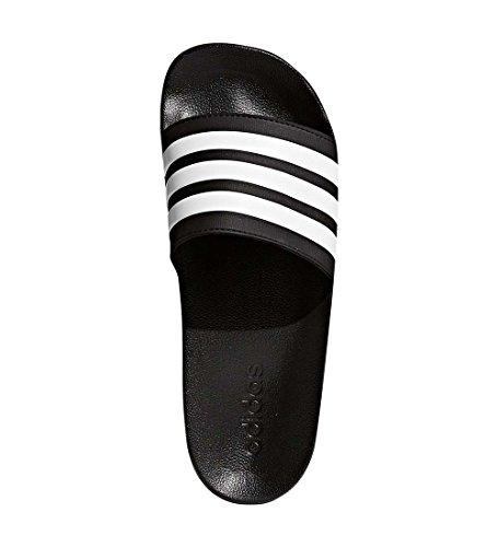 adidas Men's Adilette Shower Slide Sandal, Black/White/Black, 11 M US by adidas (Image #2)