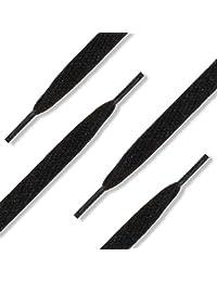 """54"""" (137 cm) Black Shoelaces (1/2"""" Wide Flat Skateboard)"""
