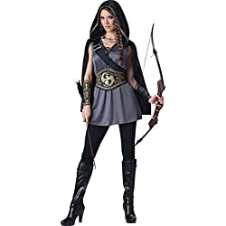InCharacter Costumes Women's Huntress Costume, Grey/Black, X-Large