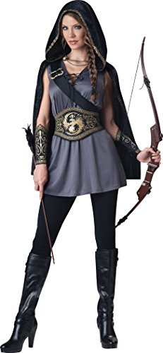 InCharacter Costumes Women's Huntress Costume, Grey/Black, Small